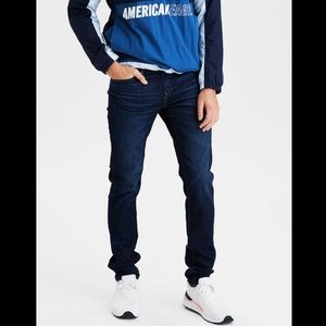 American Eagle Extreme Flex Dark Wash Skinny Jeans